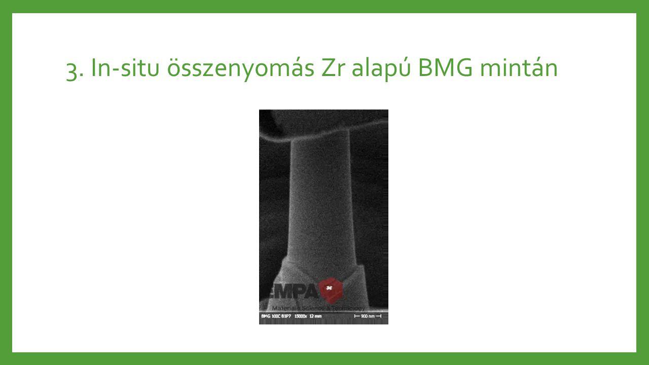 3. In-situ összenyomás Zr alapú BMG mintán