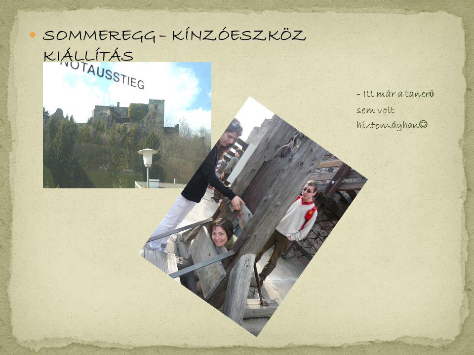 SOMMEREGG – KÍNZÓESZKÖZ KIÁLLÍTÁS - Itt már a taner ő sem volt biztonságban