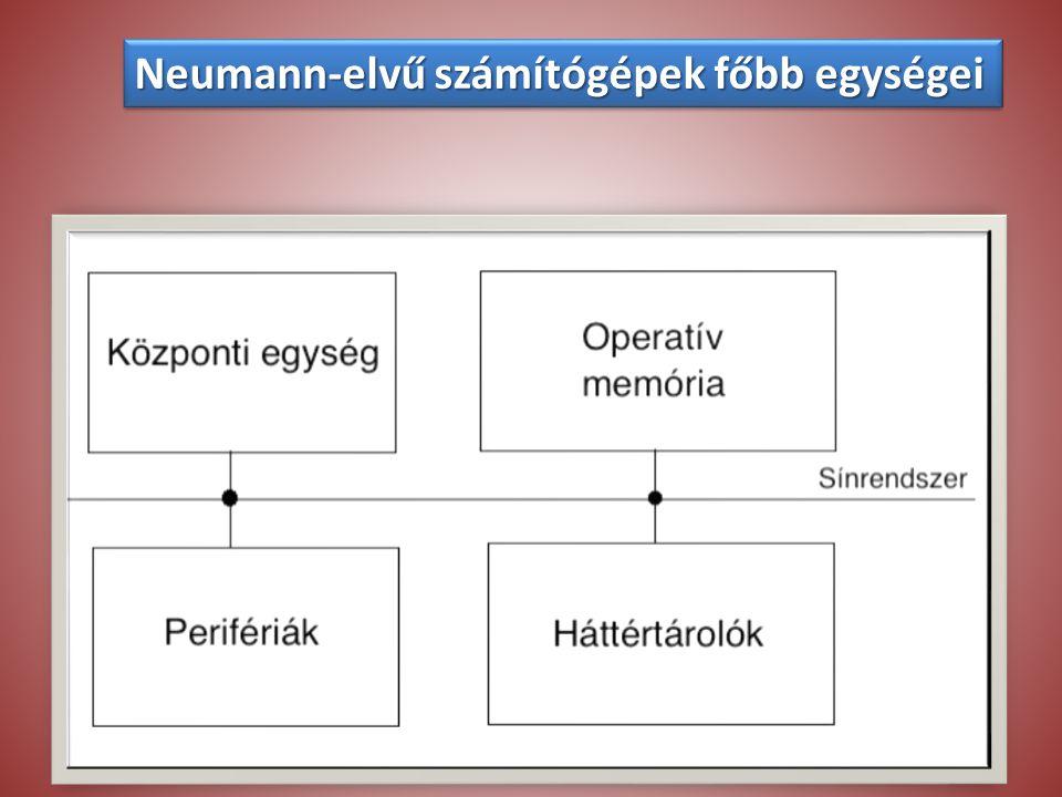 Neumann-elvű számítógépek főbb egységei