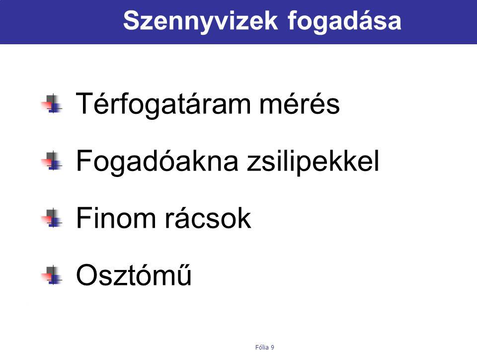 Institut für Siedlungswasserwirtschaft und Landschaftswasserbau Fólia 10 Rácsok