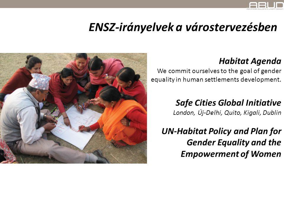 "Gender Equality for Smarter Cities ""Climate Change is not Gender Neutral Gender, Culture and Urbanization Gender Responsive Urban Planning and Design ENSZ-irányelvek a várostervezésben"