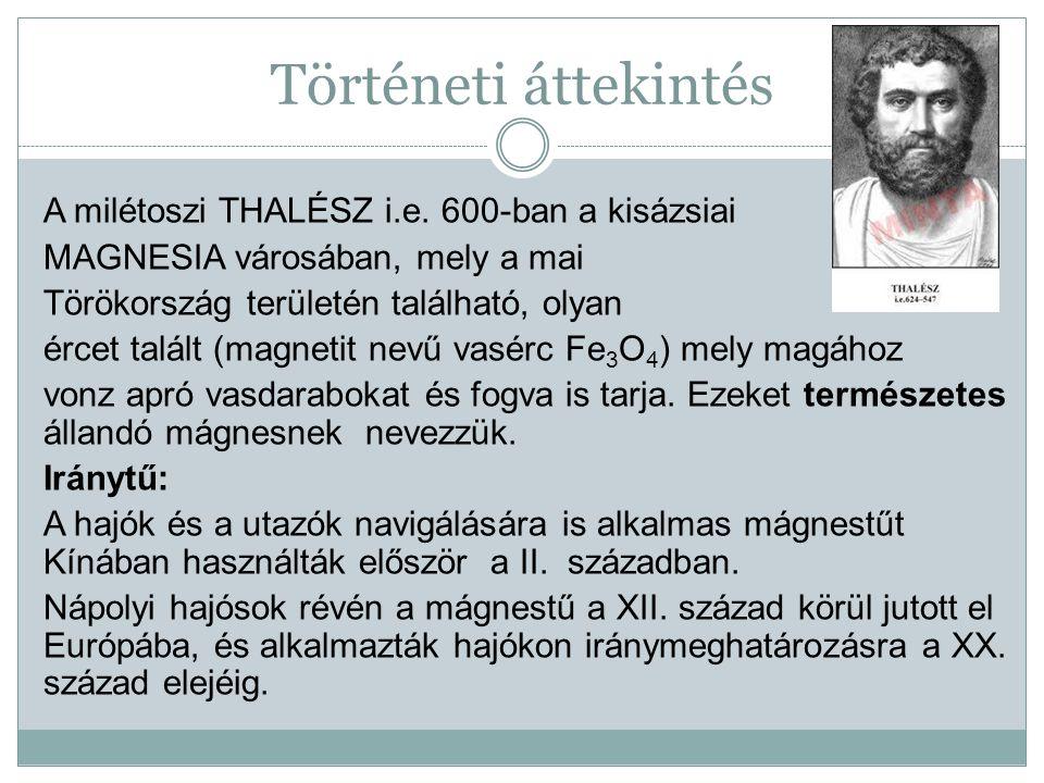Történeti áttekintés A milétoszi THALÉSZ i.e.