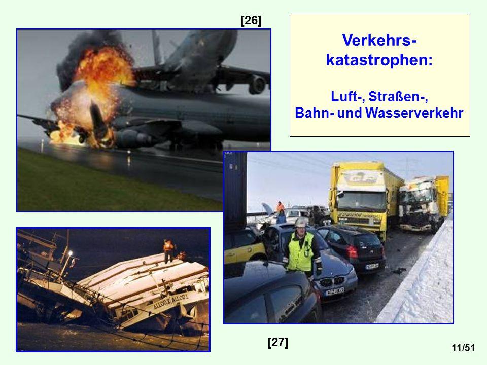 [26] [27] Verkehrs- katastrophen: Luft-, Straßen-, Bahn- und Wasserverkehr 11/51