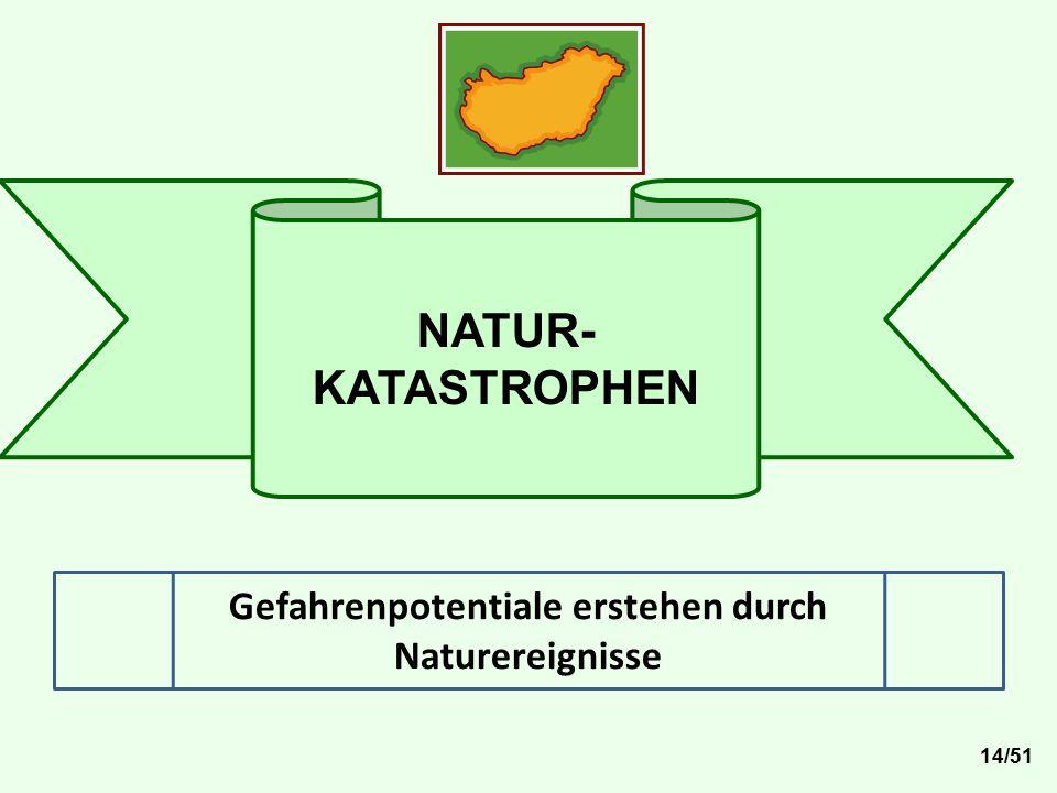 NATUR- KATASTROPHEN Gefahrenpotentiale erstehen durch Naturereignisse 14/51