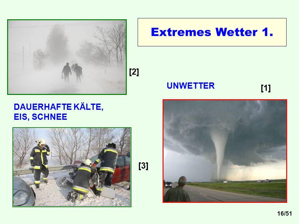 DAUERHAFTE KÄLTE, EIS, SCHNEE UNWETTER [1] [2] [3] Extremes Wetter 1. 16/51