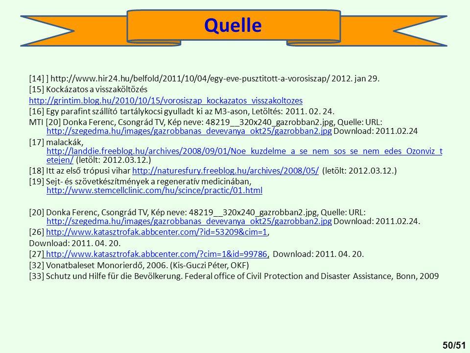 [14] ] http://www.hir24.hu/belfold/2011/10/04/egy-eve-pusztitott-a-vorosiszap/ 2012. jan 29. [15] Kockázatos a visszaköltözés http://grintim.blog.hu/2