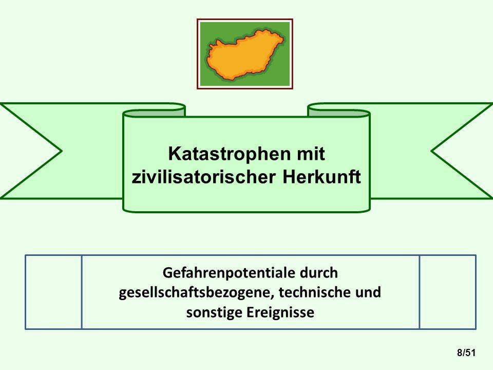 Katastrophen mit zivilisatorischer Herkunft Gefahrenpotentiale durch gesellschaftsbezogene, technische und sonstige Ereignisse 8/51
