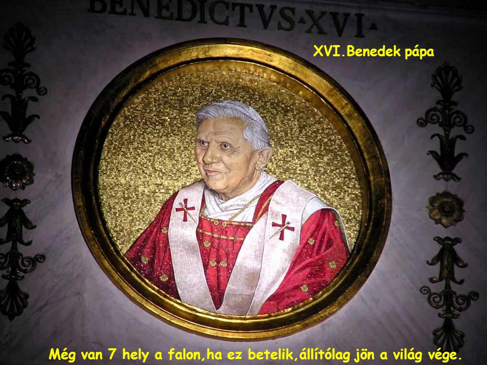 Pápák arcképei a falakon