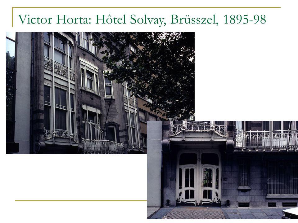 Victor Horta: Hôtel Solvay, Brüsszel, 1895-98
