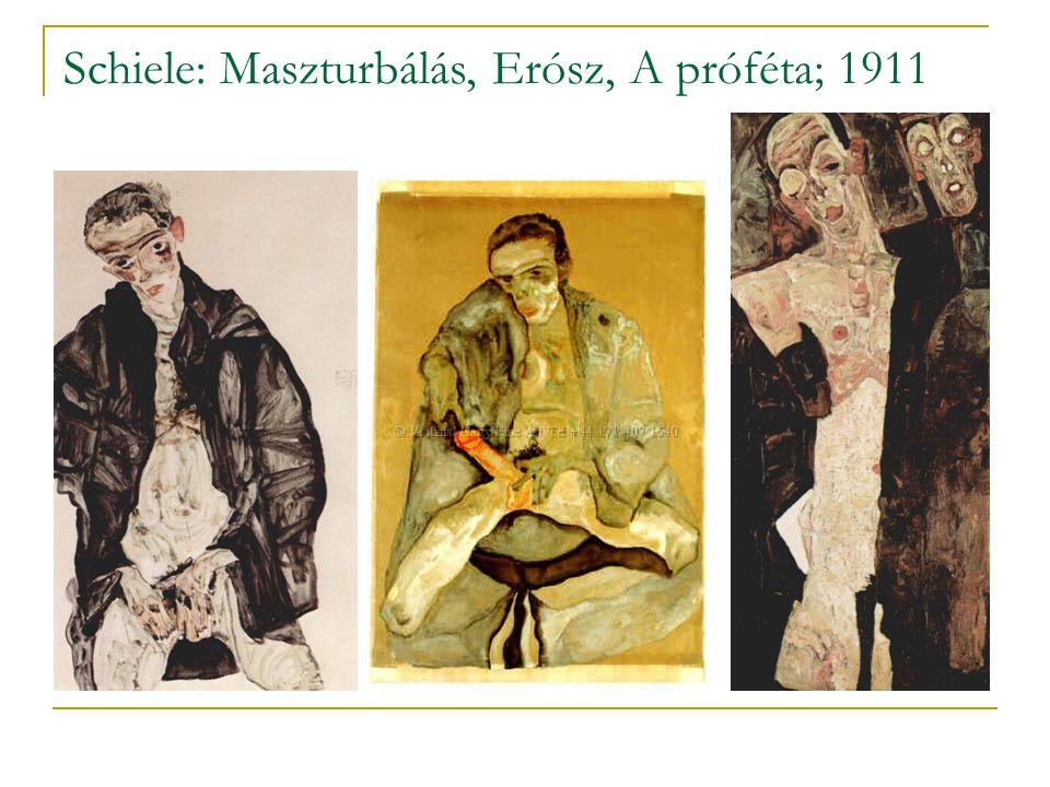 Schiele: Maszturbálás, Erósz, A próféta; 1911
