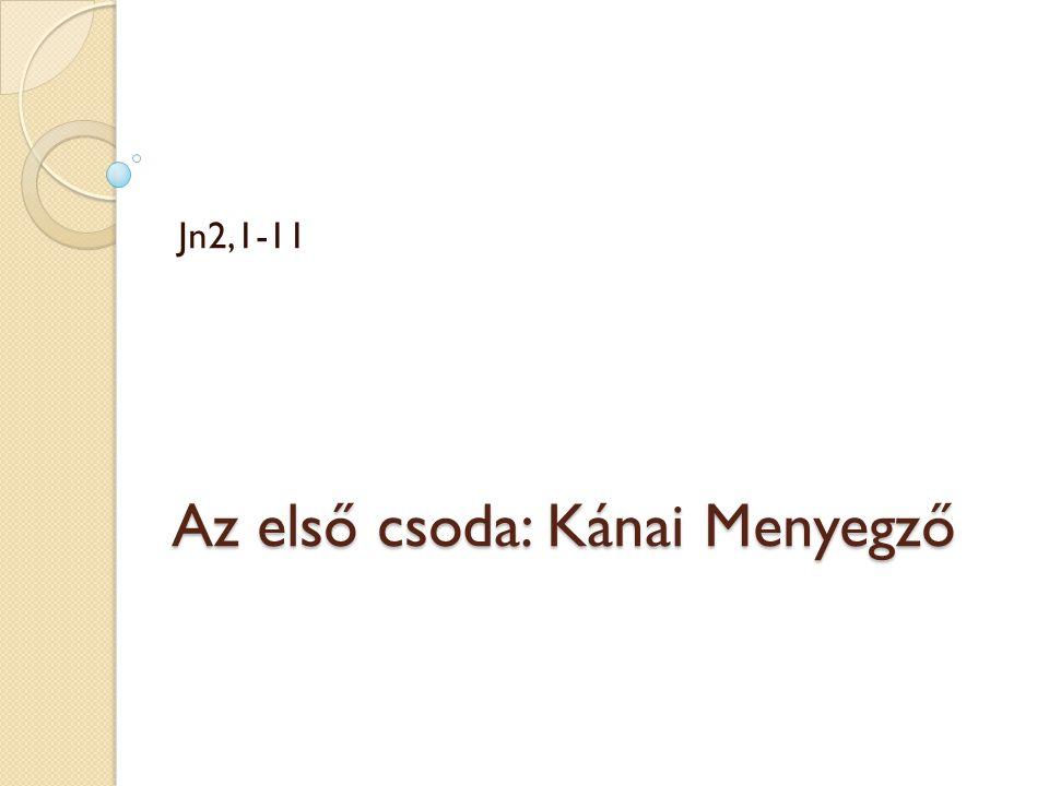 Az első csoda: Kánai Menyegző Jn2,1-11