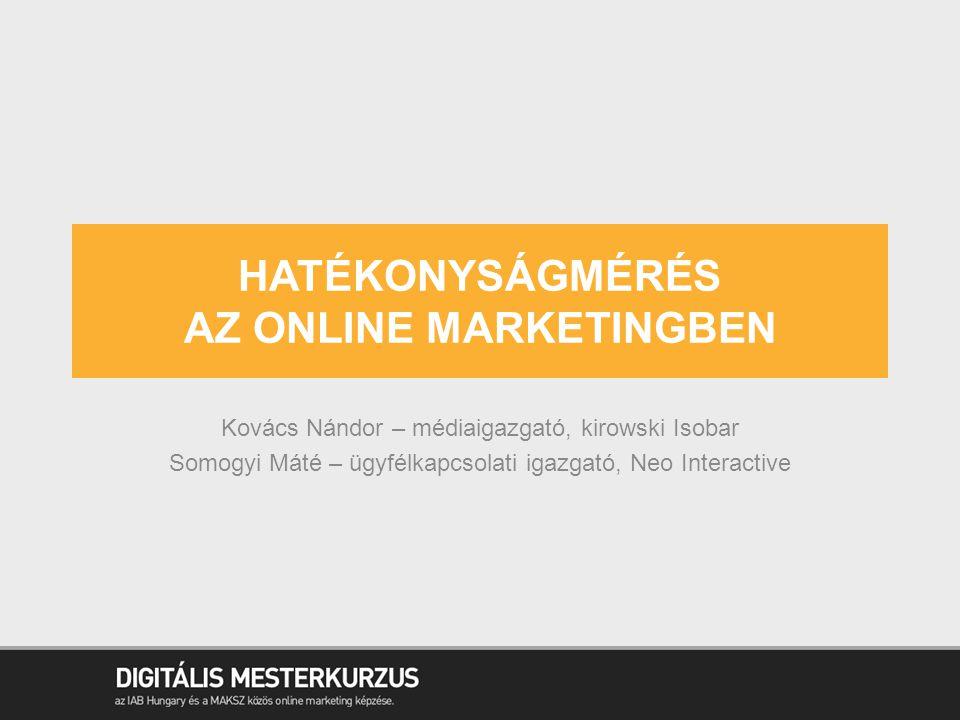12  Reklámszerver  Webanalitika A KÉT VÉGPONT Hatékonyságmérés az online marketingben