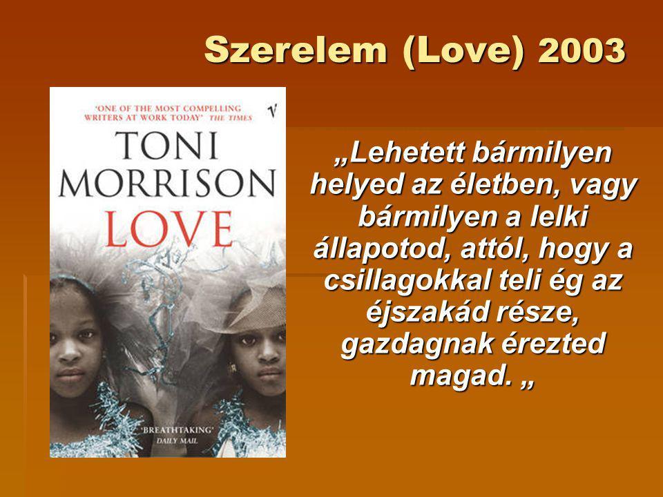 """Szerelem (Love) 2003 """"Lehetett bármilyen helyed az életben, vagy bármilyen a lelki állapotod, attól, hogy a csillagokkal teli ég az éjszakád része, ga"""