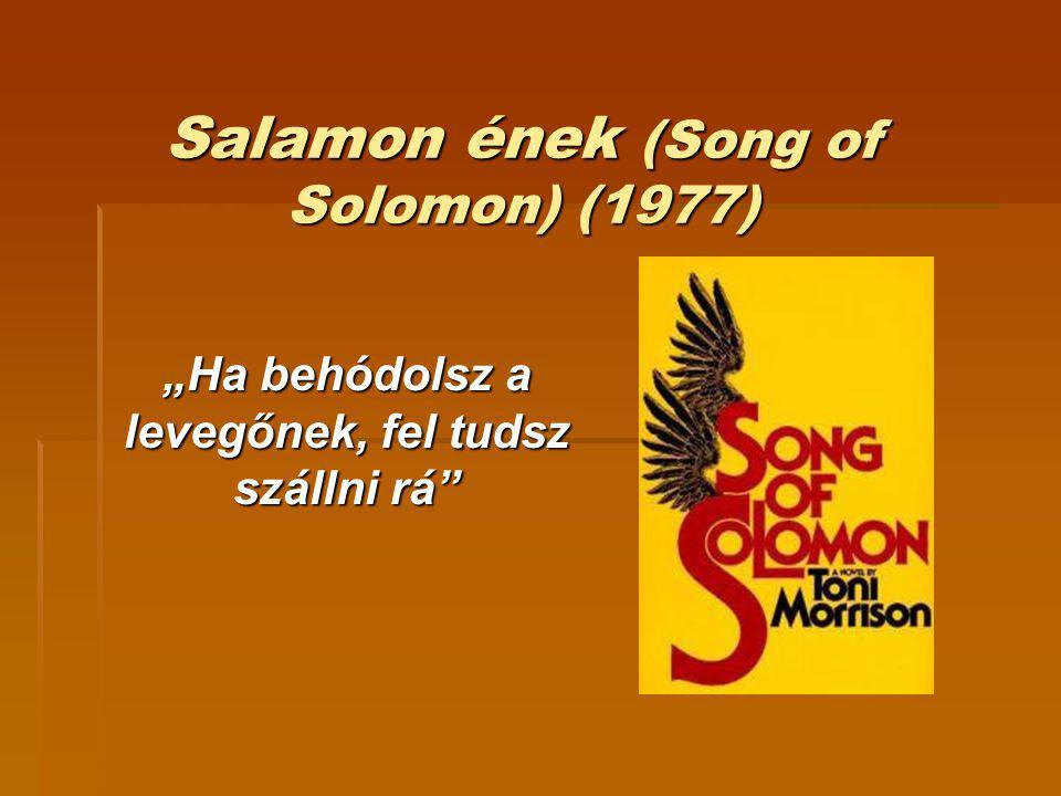 """Salamon ének (Song of Solomon) (1977) """"Ha behódolsz a levegőnek, fel tudsz szállni rá"""