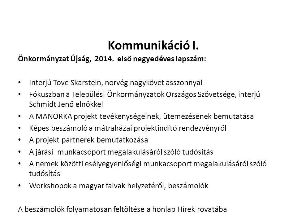 Kommunikáció I.Önkormányzat Újság, 2014.