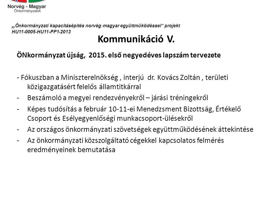 Kommunikáció V.ÖNkormányzat újság, 2015.