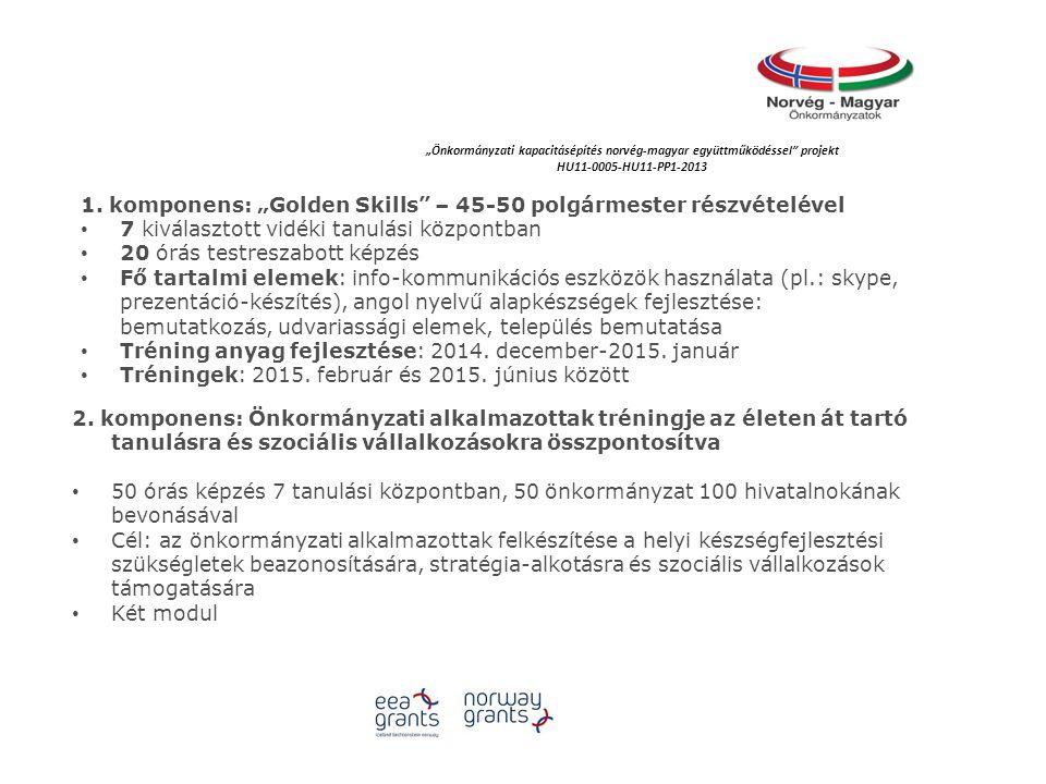 """""""Önkormányzati kapacitásépítés norvég‐magyar együttműködéssel projekt HU11-0005-HU11-PP1-2013 1."""