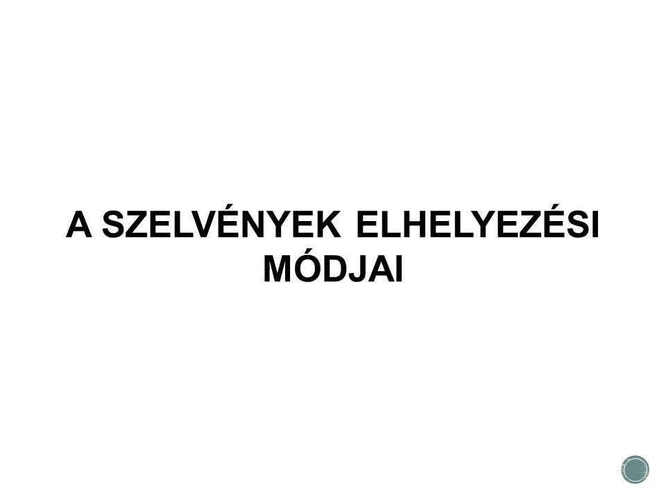A SZELVÉNYEK ELHELYEZÉSI MÓDJAI
