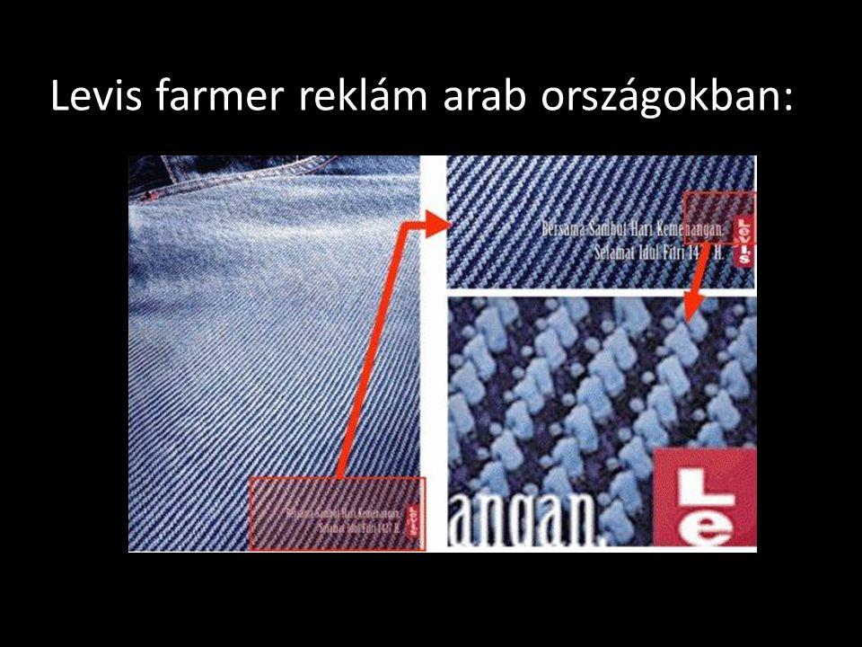 Levis farmer reklám arab országokban: