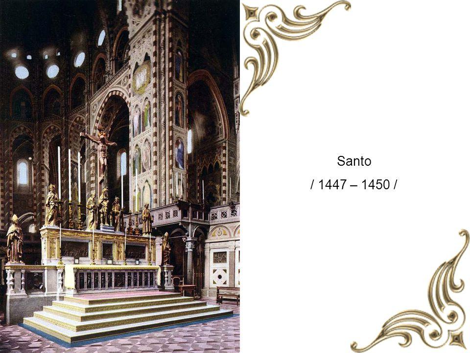 Gattemalata lovasszobra / 1447 – 1453 /