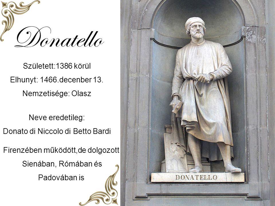 Donatello F: Laci Automatikus diaváltás 1386 - 1466 Zene: Heaven can wait