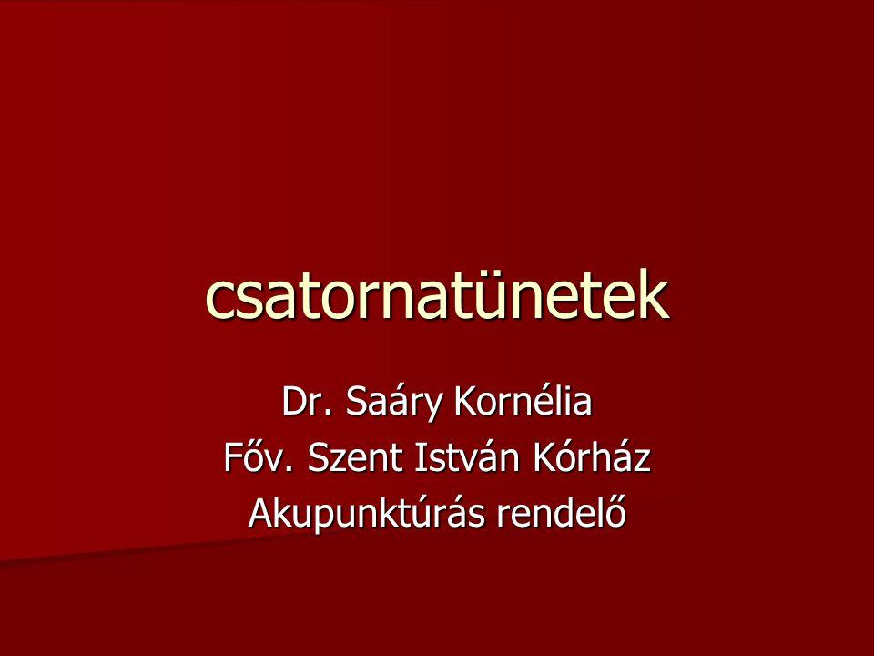 csatornatünetek Dr. Saáry Kornélia Főv. Szent István Kórház Akupunktúrás rendelő