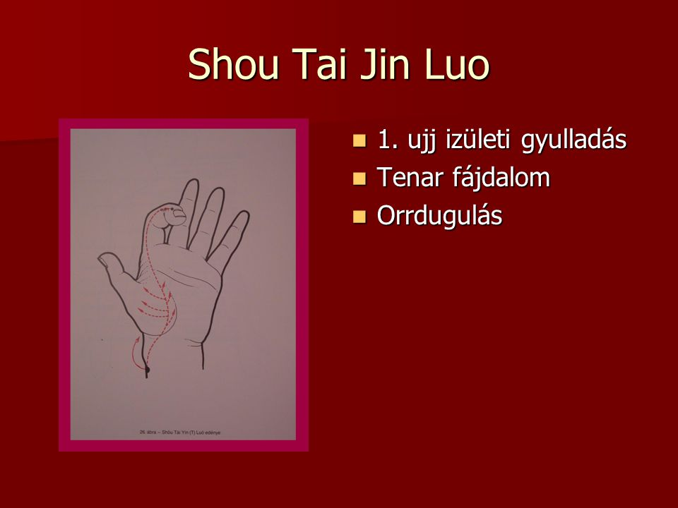 Shou Tai Jin Luo 1.ujj izületi gyulladás 1.