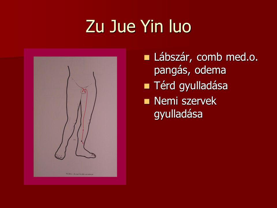 Zu Jue Yin luo Lábszár, comb med.o.pangás, odema Lábszár, comb med.o.
