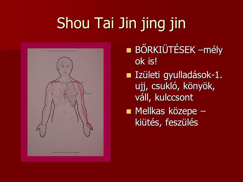 Shou Tai Jin jing jin BŐRKIÜTÉSEK –mély ok is.BŐRKIÜTÉSEK –mély ok is.