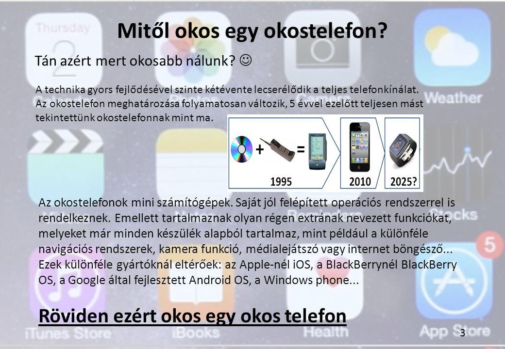 Mitől okos egy okostelefon? A technika gyors fejlődésével szinte kétévente lecserélődik a teljes telefonkínálat. Az okostelefon meghatározása folyamat