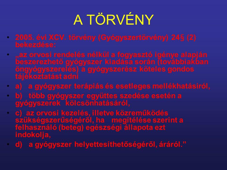 A TÖRVÉNY 2005. évi XCV.