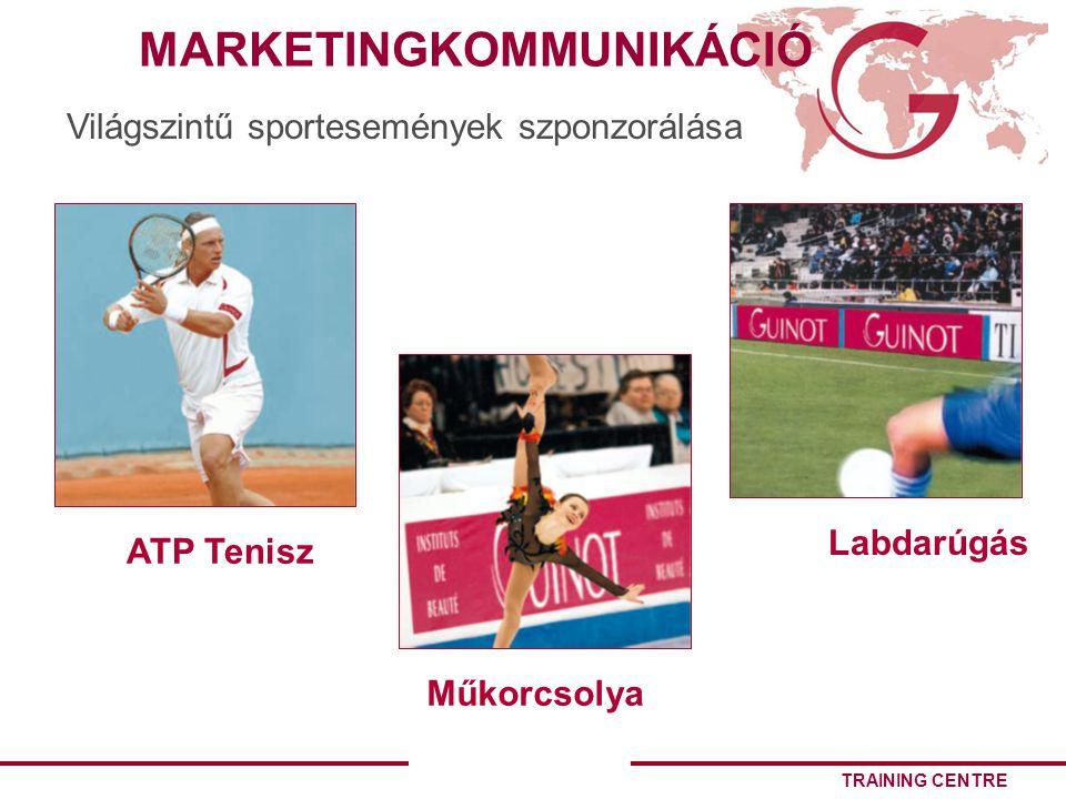 TRAINING CENTRE ATP Tenisz Labdarúgás Műkorcsolya Világszintű sportesemények szponzorálása MARKETINGKOMMUNIKÁCIÓ