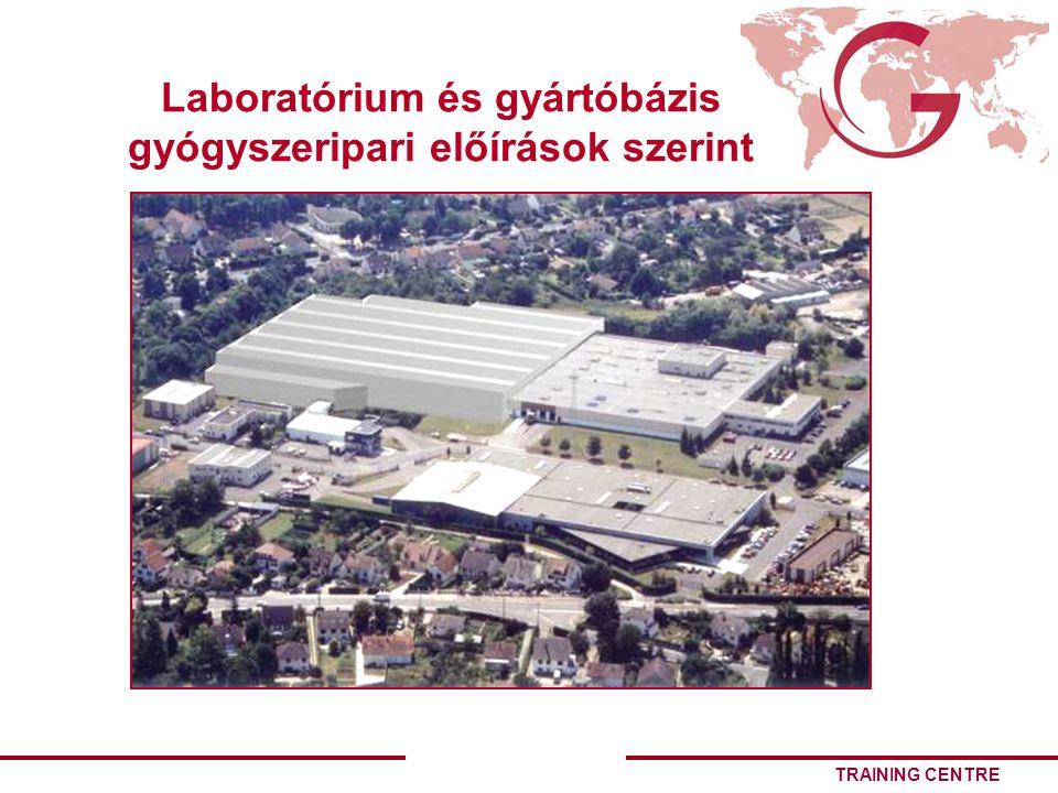 TRAINING CENTRE Laboratórium és gyártóbázis gyógyszeripari előírások szerint