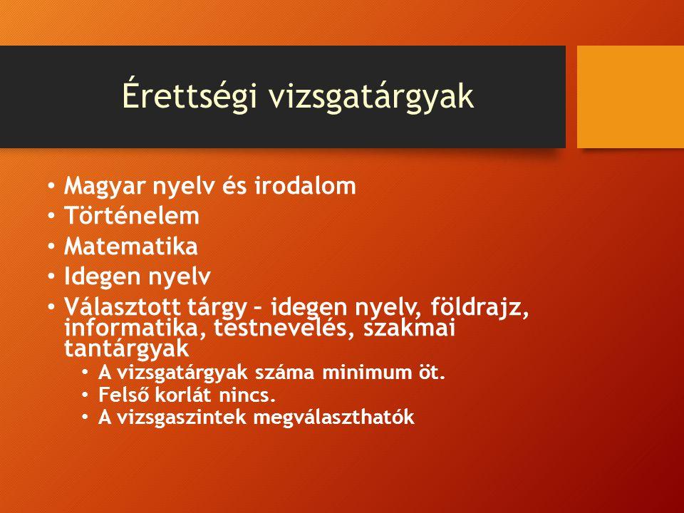 Vizsgatárgyak kiválasztása Piroska gazdasági területre szeretne jelentkezni, felvételi tárgyai: matematika, vagy történelem vagy egy idegen nyelv (kettőt kell választani).