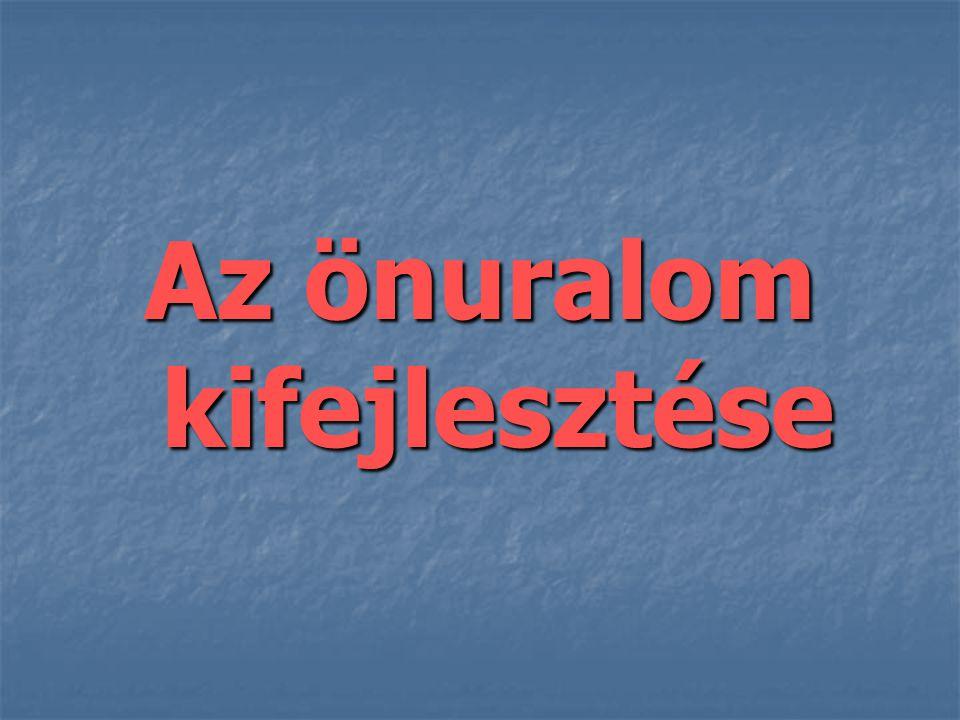 önuralom (lat.dominatio sui): önuralom (lat. dominatio sui): 1.