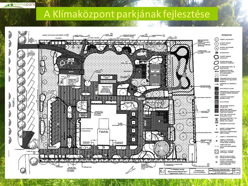 A Klímaközpont parkjának fejlesztése
