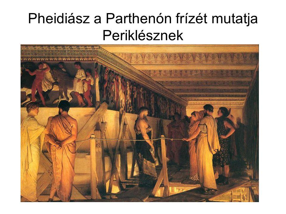 """A válság jelei Athénban Vagyoni különbségek növekedése -Rabszolgatartó nagyüzemek megjelenése → kézművesek elszegényedése → a paraszti birtokok tönkremennek → a demokrácia FORMÁLISSÁ válik (a szegények eladják a szavazatokat) A déloszi szövetség: Athén """"gyarmatbirodalma -a """"szövetségesek adót fizetnek -nem lehet kilépni (Athén fegyveres erőszakot alkalmaz!) -Athén kereskedelmi fölényét biztosítja -Ellentét a Spárta vezette peloponnészoszi szövetséggel"""