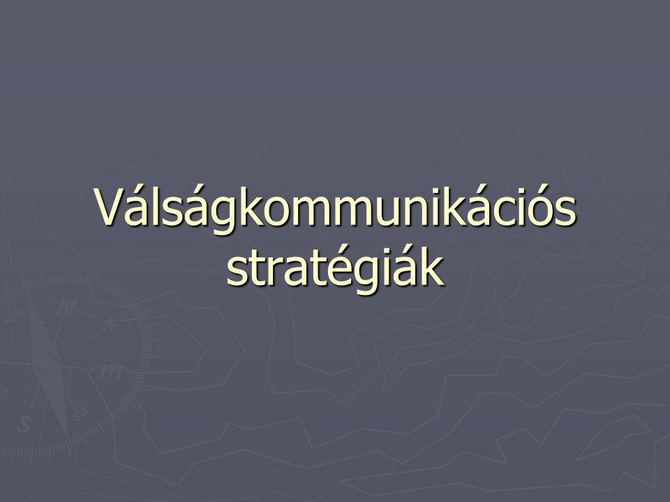 Válságkommunikációs stratégiák