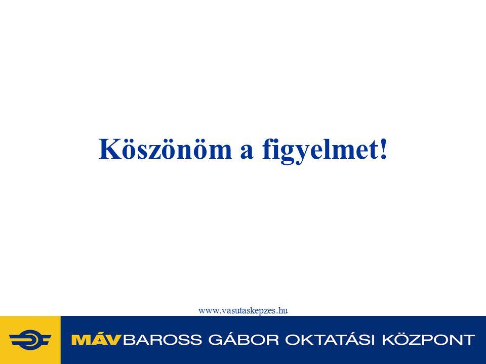 www.vasutaskepzes.hu Köszönöm a figyelmet!