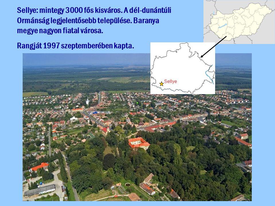 Sellye: mintegy 3000 fős kisváros. A dél-dunántúli Ormánság legjelentősebb települése. Baranya megye nagyon fiatal városa. Rangját 1997 szeptemberében