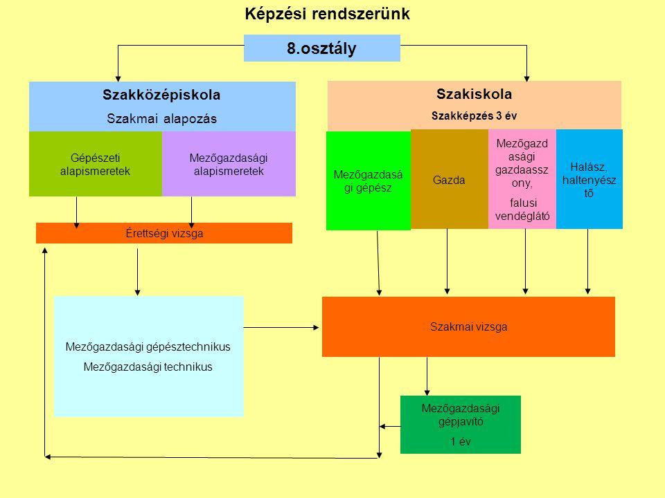 Tagozatkód: 41 Képzés neve: szakközépiskolai célú 9.