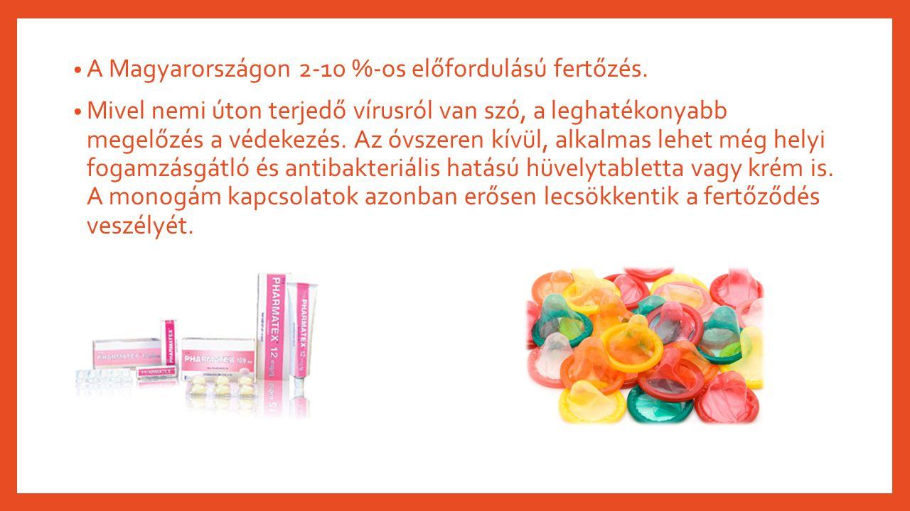 A Magyarországon 2-10 %-os előfordulású fertőzés. Mivel nemi úton terjedő vírusról van szó, a leghatékonyabb megelőzés a védekezés. Az óvszeren kívül,