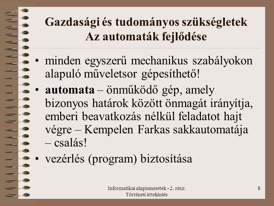 Informatikai alapismeretek - 2.