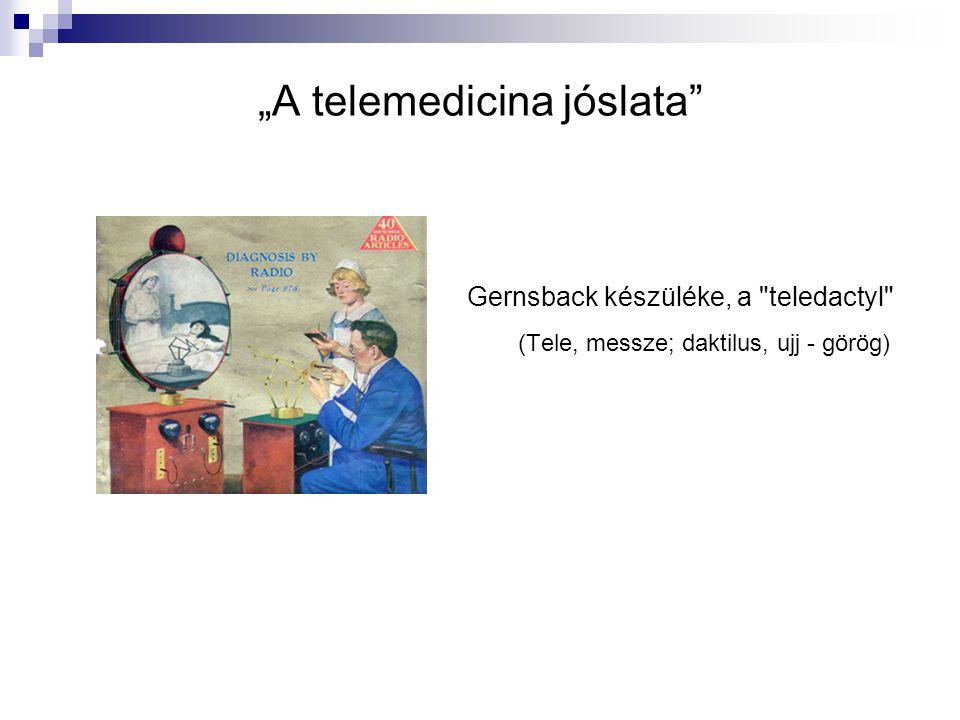 """""""A telemedicina jóslata"""" Gernsback készüléke, a"""