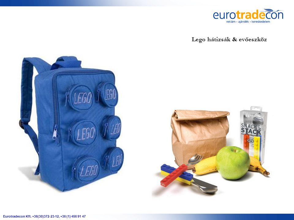 Eurotradecon Kft. +36(30)372-23-12, +36 (1) 456 91 47 Lego hátizsák & evőeszköz