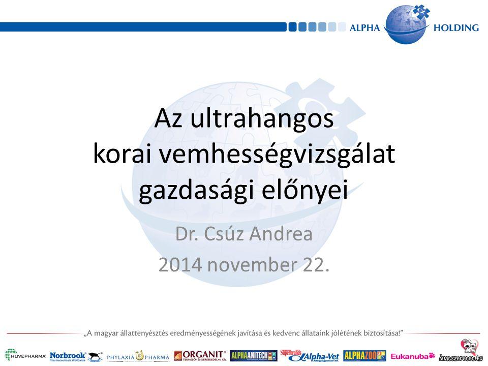 Az ultrahangos korai vemhességvizsgálat gazdasági előnyei Dr. Csúz Andrea 2014 november 22.