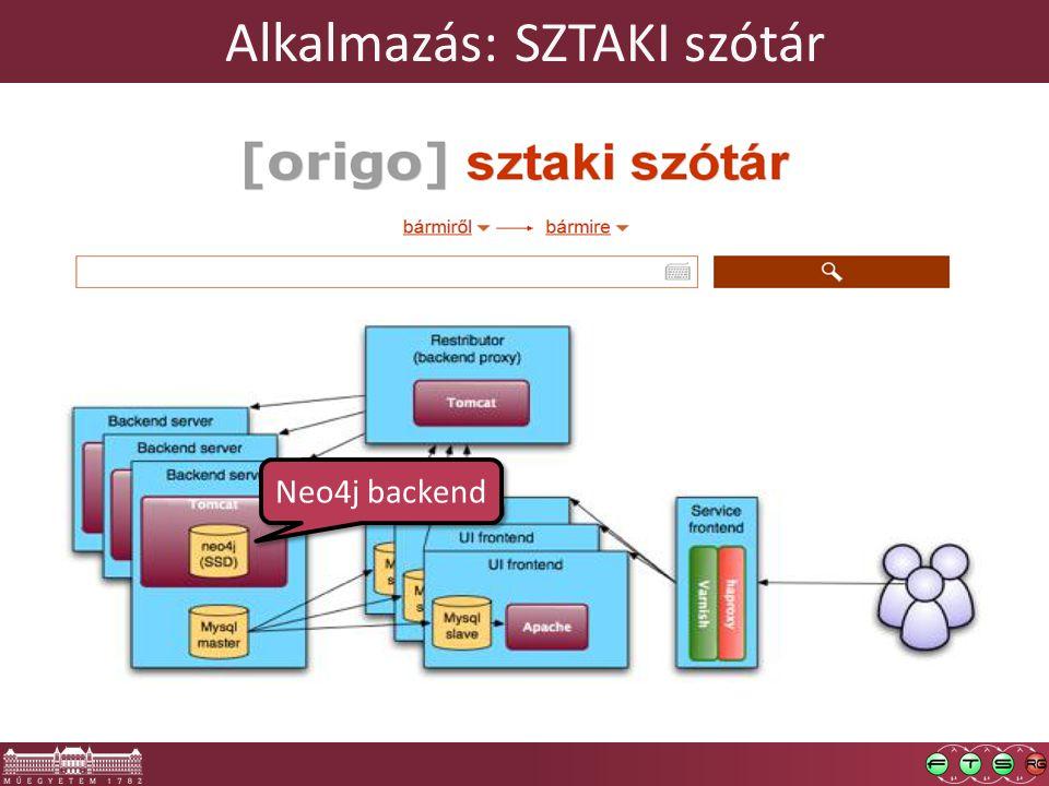 Alkalmazás: SZTAKI szótár Neo4j backend
