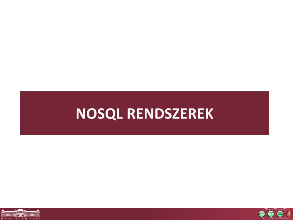 NOSQL RENDSZEREK