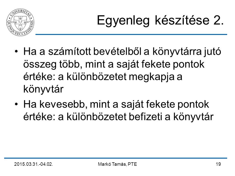 2015.03.31.-04.02. Markó Tamás, PTE 19 Egyenleg készítése 2.
