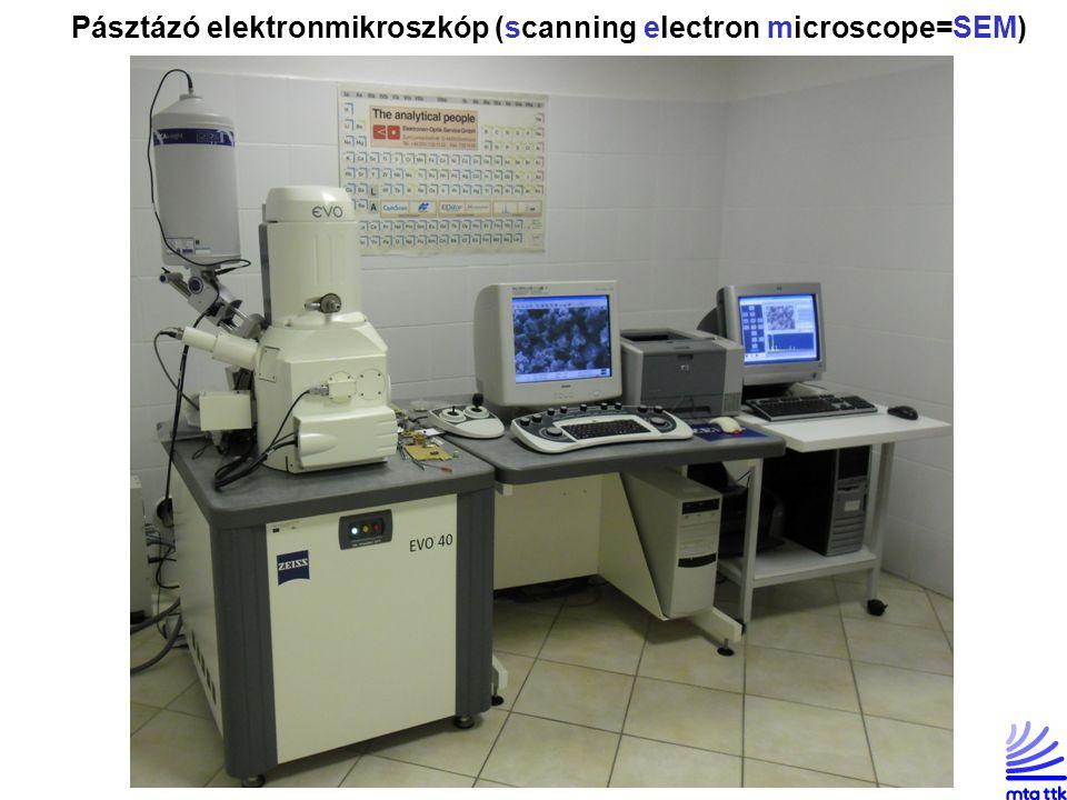 Pásztázó elektronmikroszkóp (scanning electron microscope=SEM)